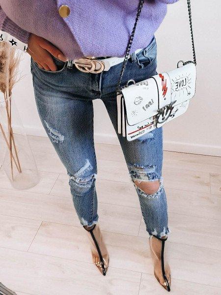 Jeansowe spodnie push up...