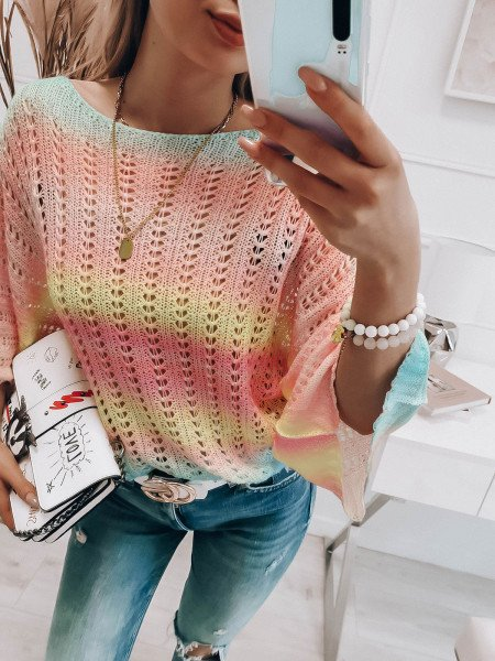 Oversizowy sweter ombre...