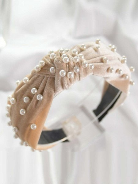 Opaska turban z perłami
