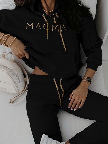 Dres spodnie + bluza COLOUR - czarny
