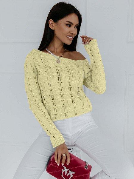 Ażurowy sweter na jedno...