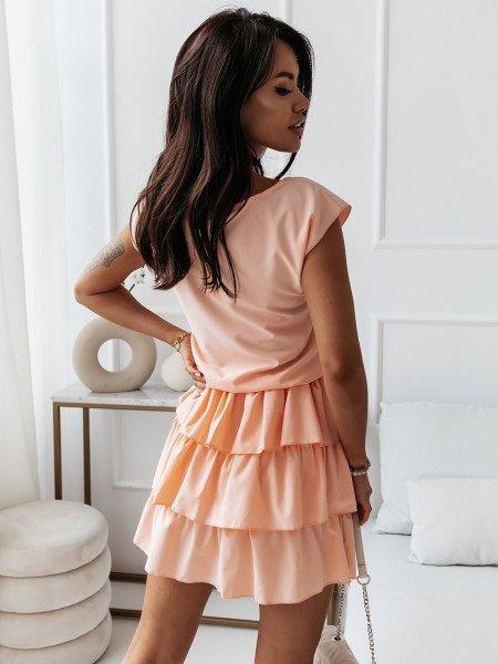 Mini sukienka z falbankami...