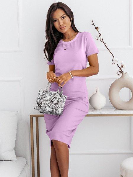 Dopasowana sukienka midi CELIA - liliowy