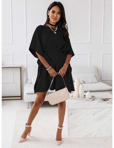 Kobieca sukienka nietoperz CANDICE - czerń