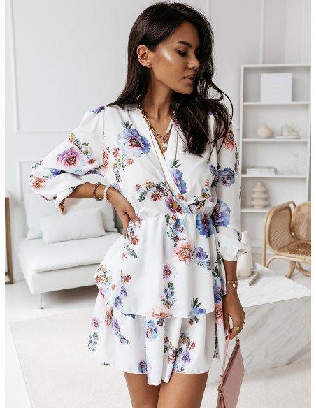 Rozkloszowana sukienka w print BONITA - wzór 8