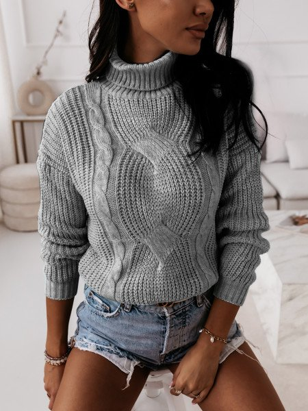 Pleciony sweter golf SONIA...