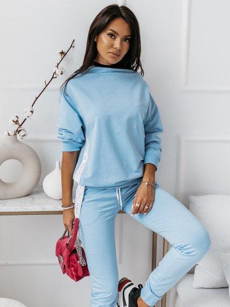 Komplet dresowy spodnie + bluza ZIPPER - błękitny