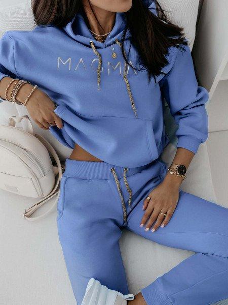 Komplet dresowy spodnie + bluza COLOUR - błękitny