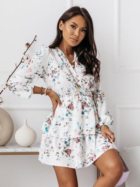 Rozkloszowana sukienka w print BONITA - wzór 6