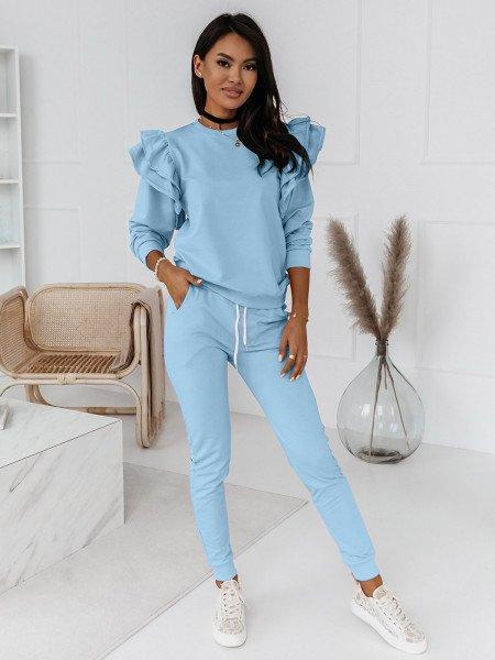 Komplet dresowy bluza+spodnie MARIPOSA - błękitny