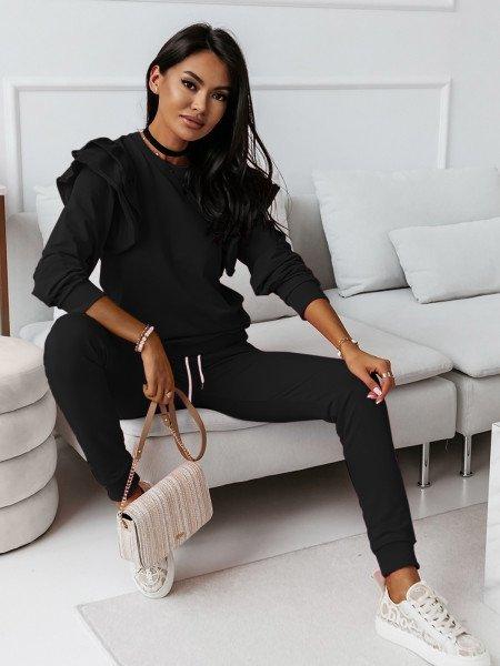Komplet dresowy bluza+spodnie MARIPOSA - czarny