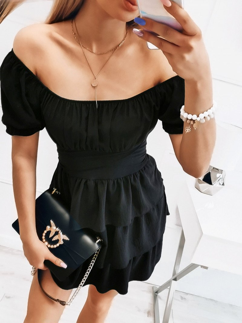 Sukienka hiszpanka - BEAUTY - czarna
