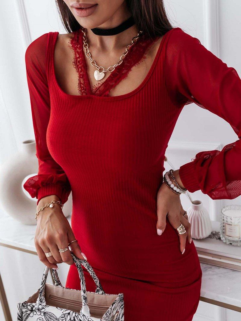 Stylowa sukienka z rękawami TOKIO -...