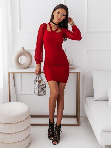 Stylowa sukienka z rękawami...