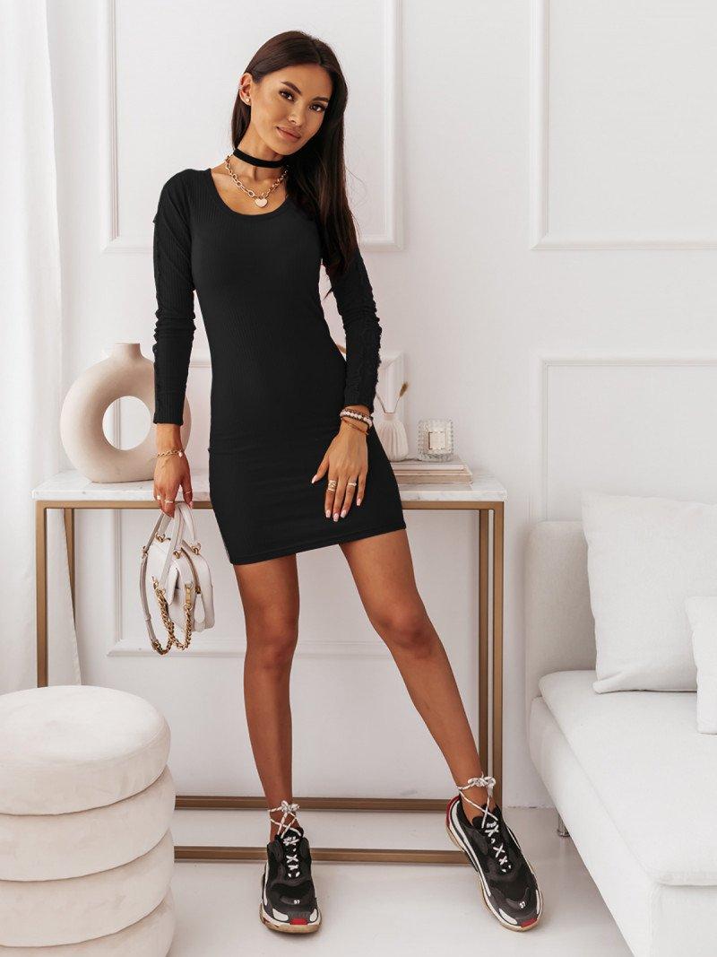 Sukienka z ozdobnymi rękawami ODETTA...