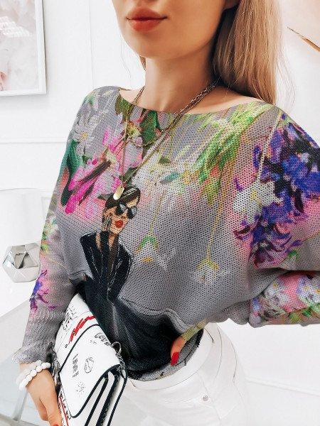 Sweter bluzka oversize  AILEEN - wzór 13