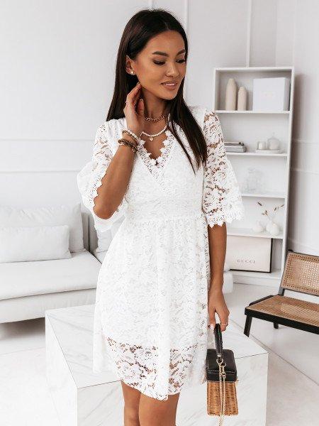 Koronkowa sukienka boho - ZICCA - biała