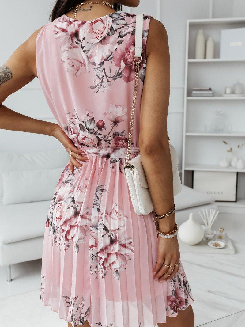 Szyfonowa plisowana sukienka print...