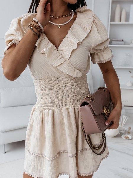 Boho sukienka z falbanami...