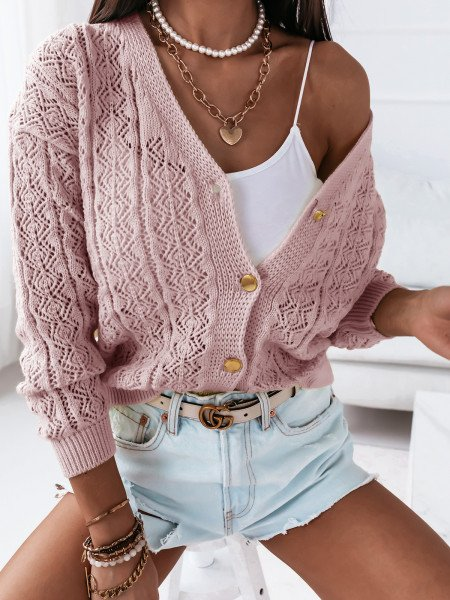 Sweter zapinany na guziki...