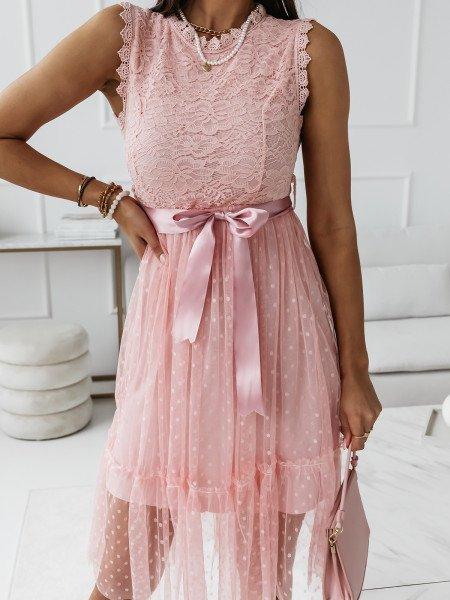 Sukienka z koronkową górą i...
