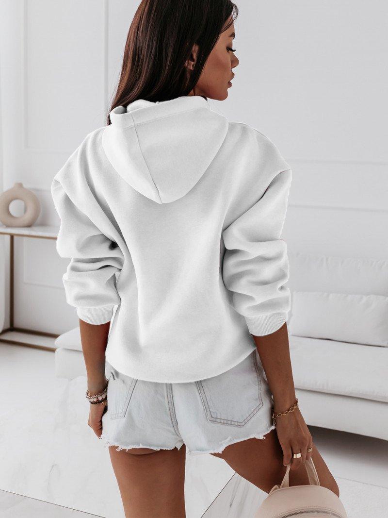 Bluza dresowa z kapturem ARABELA - biała