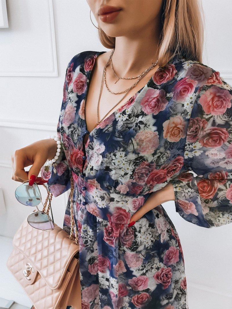 Zwiewna sukienka w kwiaty ŻAKLINA -...
