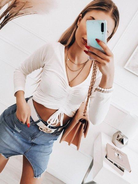 Jeansowa mini spódnica - ZIKA