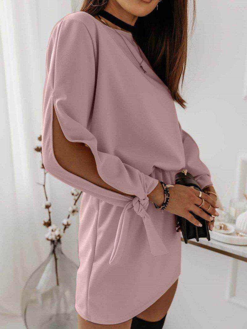 Sukienka mini z wiązaniem EVITA -...