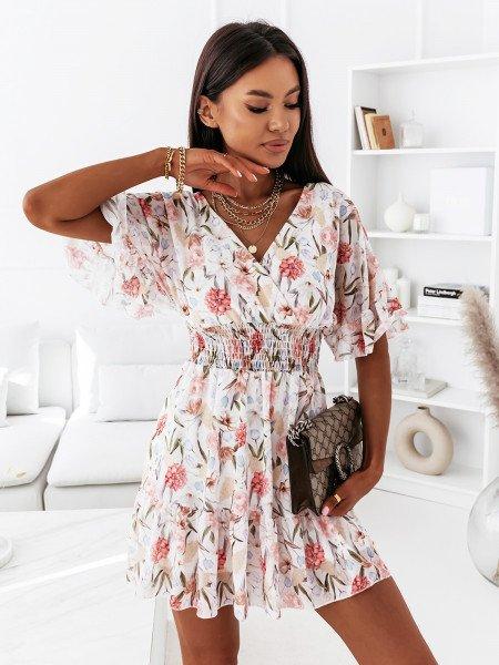 Sukienka z dekoltem na plecach - MALIJA - biała