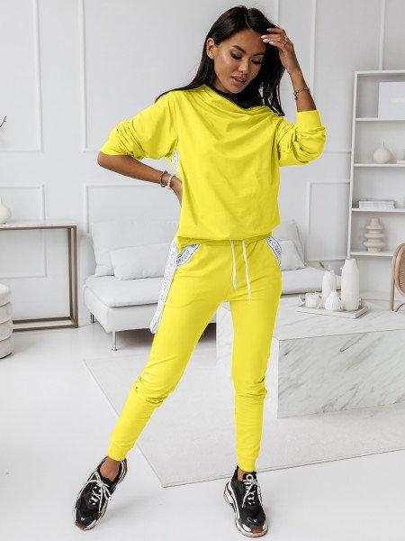 Komplet dresowy spodnie + bluza ZIPPER - cytrynowy