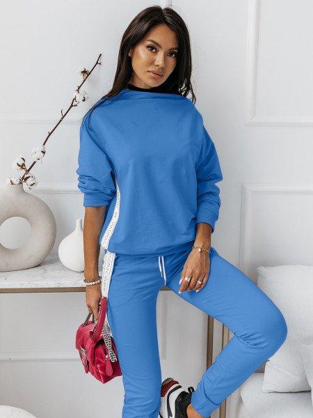 Komplet dresowy spodnie + bluza ZIPPER - niebieski