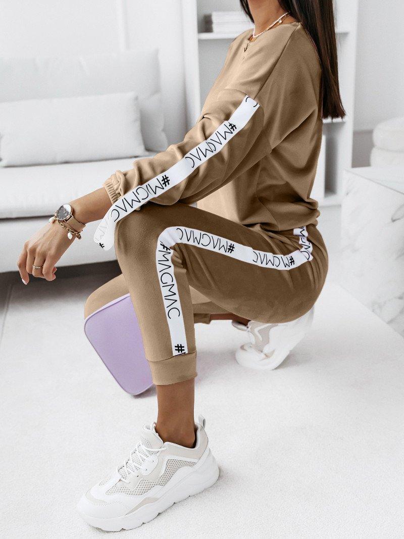 Welurowy komplet bluza+spodnie WALIA...