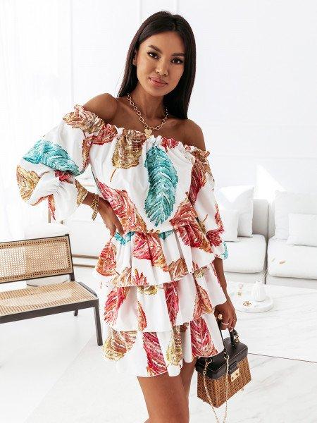 Sukienka hiszpanka z falbanami - ESPERANZA - wzór 1