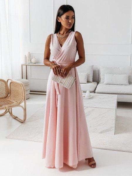 Maxi kopertowa sukienka...