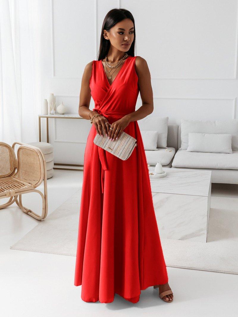 Maxi kopertowa sukienka EVENING -...