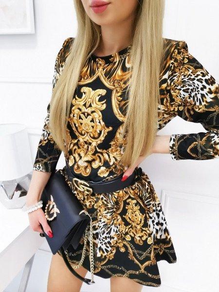 Sukienka oversize w print - wzór 1