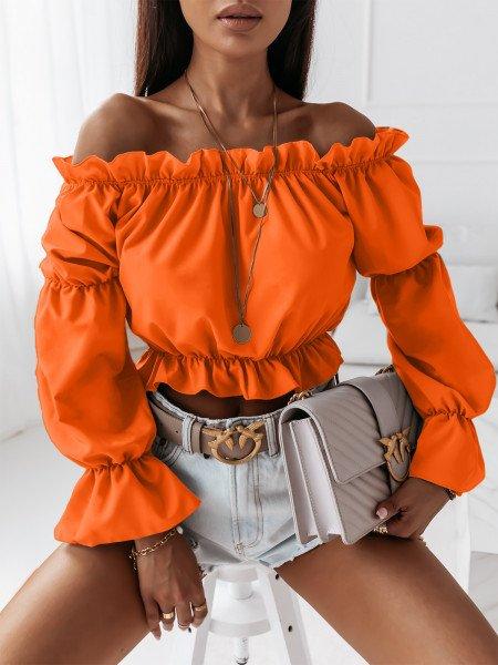 Seksowna bluzka hiszpanka DOLORES - orange neon