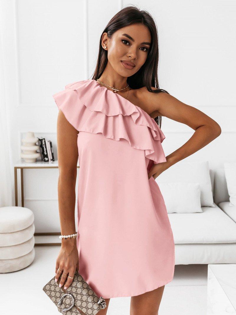 Mini sukienka na jedno ramię LIVIA -...