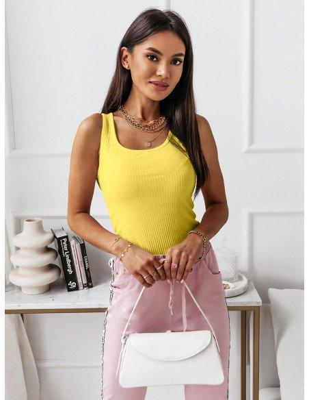 Top bluzka w prążki MAGRA - cytrynowy