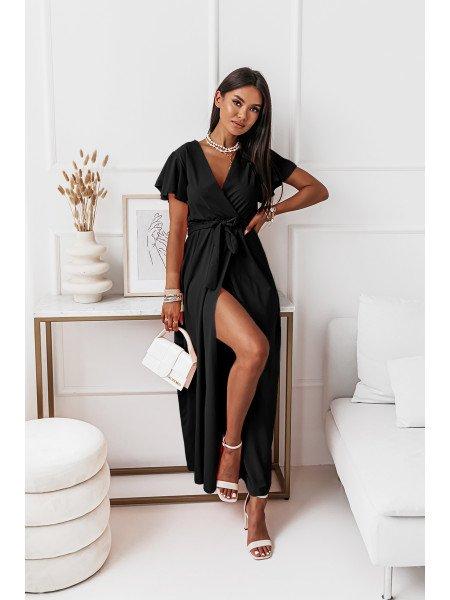 Elegancka sukienka maxi CAROLINE - czarna