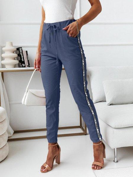 Gniecione spodnie z...