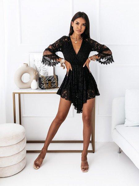 Koronkowa sukienka boho OPHELIA - czarna