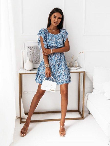 Sukienka z odsłoniętymi plecami - IMANY - błękitna