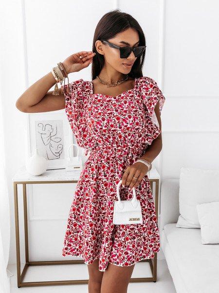 Sukienka z odsłoniętymi plecami - IMANY - czerwona