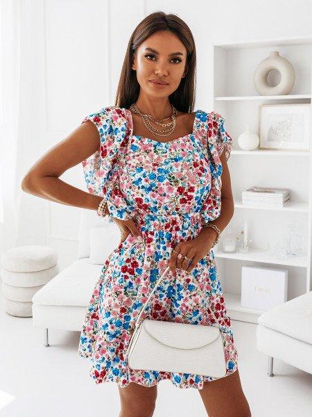 Sukienka z odsłoniętymi plecami - IMANY - biała
