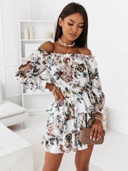 Sukienka hiszpanka w kwiaty - JUANITA - wzór 12