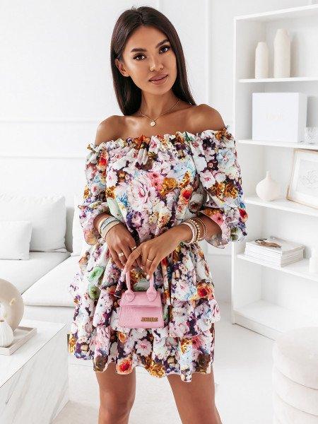 Sukienka hiszpanka w kwiaty - JUANITA - wzór 13