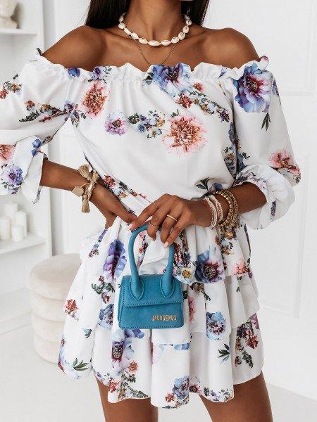 Sukienka hiszpanka w kwiaty - JUANITA - wzór 14