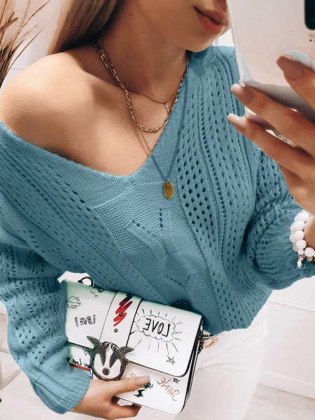 Ażurowy sweterek Adalina -...
